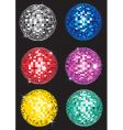 set of disco balls vector image vector image