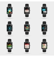 Smartwatch icons vector image