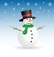 snowman winter color vector image vector image