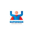 Supersign logo template concept vector image