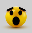 surprised emoji isolated on white background vector image vector image