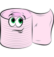 Toilet Paper Smiling vector image