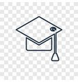 university concept linear icon isolated on vector image vector image