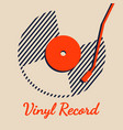 vinyl record music line background graphic vector image