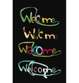 Welcome word drawn lettering typographic element vector image vector image