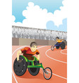 wheelchair race vector image