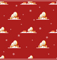 winter seamless patter vector image vector image