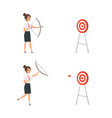 woman shooting target business lady win manager vector image vector image