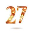 celebrating of 27 years anniversary vector image