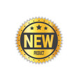 new product sticker golden seal label isolated vector image