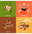 Asian Food Design Concept vector image