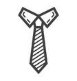 tie line icon business and necktie vector image
