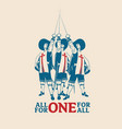 all for one for vector image vector image