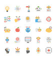 artificial intelligence flat icons set vector image vector image