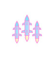 ballistic missiles on white vector image vector image