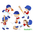 baseball 1 vector image vector image
