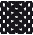 Black and white teeth seamless pattern vector image vector image