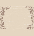 brown background with brown leaves and dots vector image