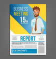 business meeting poster businessman vector image vector image