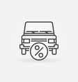 car leasing icon vector image vector image