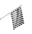 checkered flag isolated on white background vector image vector image