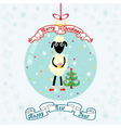 Christmas ball with sheep vector image