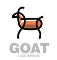 color stylized drawing goat or nanny-goat vector image vector image