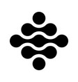 connected dots in a shape square black vector image vector image
