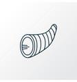 cornucopia icon line symbol premium quality vector image