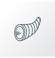 cornucopia icon line symbol premium quality vector image vector image