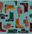 cowboy pattern australian hat and crocodile vector image vector image