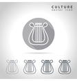 Culture outline icon vector image vector image