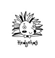 cute simple hedgehog face cartoon style vector image