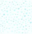 cyan heart pattern seamless vector image vector image