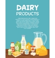 dairy products poster template vector image
