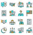 election color linear icons set vector image