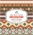 Ethnic print pattern background vector image vector image
