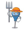 farmer clyster character cartoon style vector image vector image