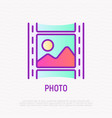 film thin line icon modern vector image vector image