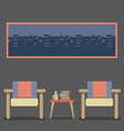 Flat Design Empty Seats Vintage Interior vector image