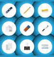 flat icon equipment set of knife date block vector image vector image