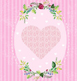 Floral and decorative border heart vector image vector image