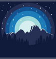 forest near mountain poster vector image