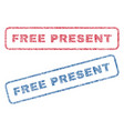 free present textile stamps vector image vector image