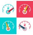 fuel icon car dashboard control icons set vector image