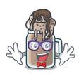 geek milkshake character cartoon style vector image vector image