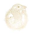 Graphic turkey head vector image