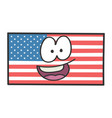 happy american flag cartoon vector image