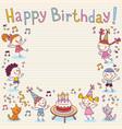 Happy Birthday card 12 vector image vector image