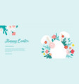 happy easter banner greeting card poster vector image vector image